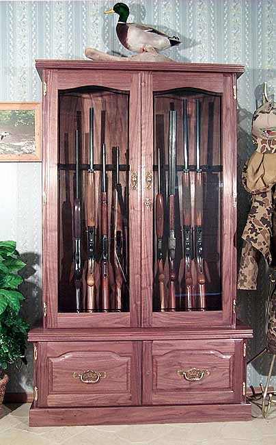 ... Walnut Gun Cabinet 12-gun Premium Quality & Walnut Gun Cabinet 12-gun